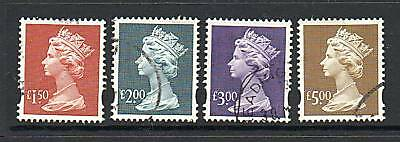 GB 1993 definitive SGY1800-Y1803 High values to £5 fine used set of 4 stamps