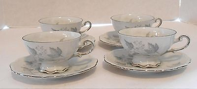 "4 Mitterteich Bavaria ""Monika"" Cups and Saucers"