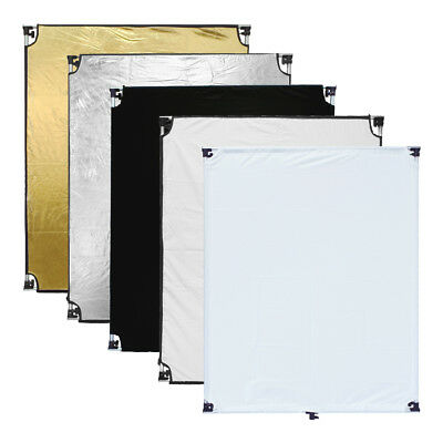 "[AU] Pro Studio 100x120cm 5in1 Photo Reflector Flag Panel Set w/ 3/8"" Screw Hole"