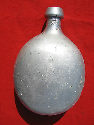 Russian Imperial WW1 Round Aluminium Flask. Dated 1910