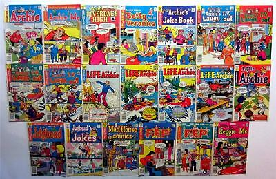 LOT OF 20 35 CENT COMICS ARCHIE 268 AND ME 108 RIVERDALE 47 LITTLE 133 (FN)
