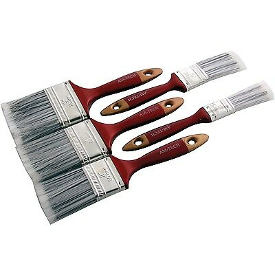 "5 PC Pieces Paint Brush Set 1, 1.5, 2, 2.15 & 3"" Wooden Handles"