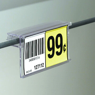 "2.5"" L x 1.25""H Glass Shelf UPC Price Tag Label Holder - 20 Pieces"