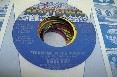 Soul 45 Diana Ross - Touch Me In The Morning / I Won'T Last A Day Without You On