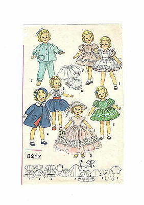 """3217 Vintage Chubby Doll Pattern Size 15"""" -- Year 1958"""