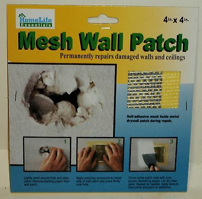 Mesh Wall Patch Permanently Repairs Damaged Walls Etc. Fix Holes in Drywall Easy