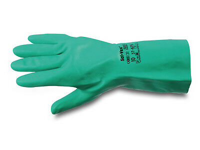 Ansell 37-675 SOL-VEX Classic Nitrile Chemical Resistant Safety Glove Gauntlets