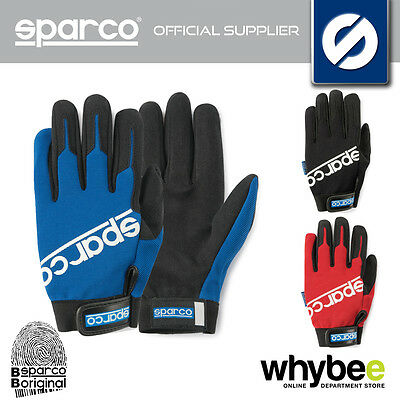 New! Sparco Mechanic Gloves Meca-2 Pit Crew Workshop 3 Colours Sizes S-Xl