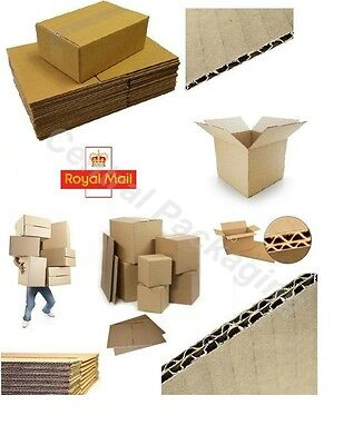 CARDBOARD BOXES with Single & Double Wall in 29 SIZES Royal Mail,Moving,Storage