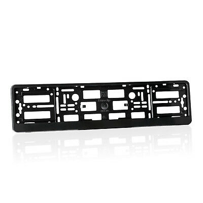 2x Black ABS  Number Plate Surrounds Holder Frame for VAUXHALL RV 2