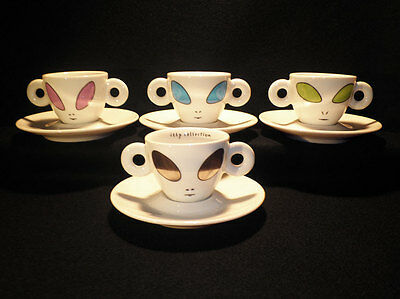 Illy Collection 2001 Alien's Cup By David Byrne Tazzine Espresso Cups