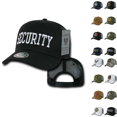 9db33156 Army Air Force Navy Marines Police Security Military Trucker Baseball Hats  Caps