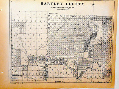 Old Hartley County Texas General Land Office Owner Map Dalhart Channing H&TCRR