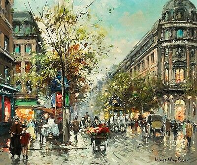 Modern Art home decorate prints oil painting on canvas Paris Street  24x20 JJ02