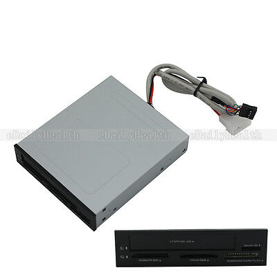 "New 3.5"" Front Panel USB 2.0 All in One Card Reader + 2.5"" Harddisk SATA 2 Slot"