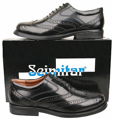 Mens New Black Formal Lace Up Leather Brogue Shoes Size 6 7 8 9 10 11 12 13 14