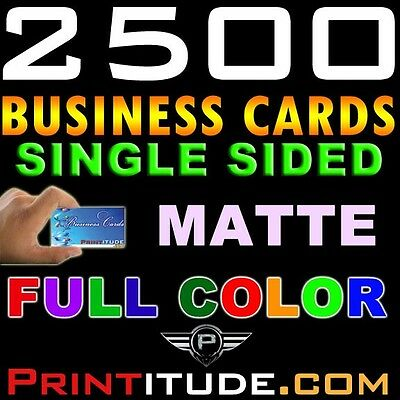 CUSTOM DESIGNED 2500 FULL COLOR THICK SINGLE SIDED MATTE BUSINESS CARD