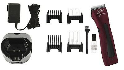 Wahl Lithium Red Rechargable Cordless Pet Dog Animal Professional Clipper Figura