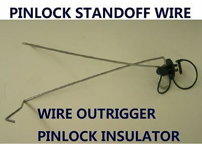 Pinlock Wire Outrigger Offset Standoff Insulator 4 Existing Fence Fencing