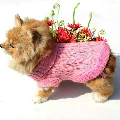 2014 New Dog Pet Sweater Coat Clothes Cute Puppiesr Knit, Soft Cozy,Two sizes