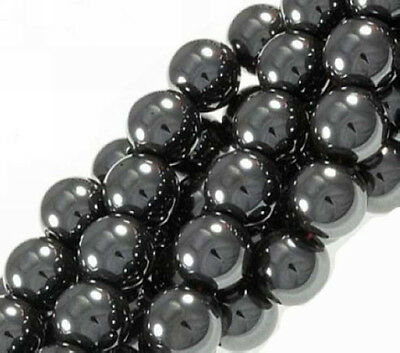 Wholesale 4mm,6mm,8mm,10mm,12mm Black Hematite Jewelry Making Spacer Beads