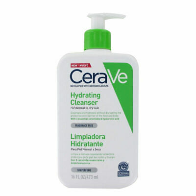 New CeraVe Hydrating Cleanser 355ml (Dermatologist Recommended Normal/Dry Skin)
