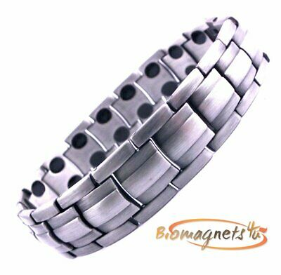 Mens Premium Super Strong Bio Magnetic Healing Bracelet - Arthritis Pain Relief