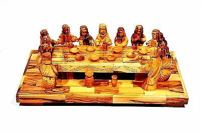 The Last Supper Made in Olivewood From Bethlehem Jerusalem.