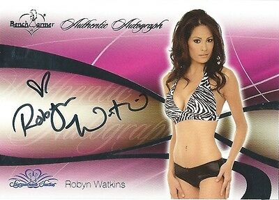 (HCW) 2008 Bench Warmer Signature Series ROBYN WATKINS Autograph Silver Foil
