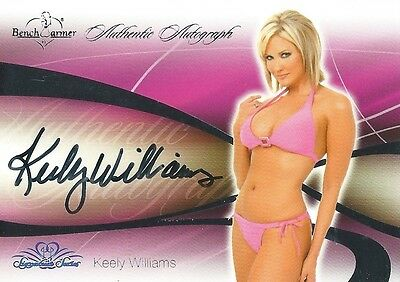 (HCW) 2008 Bench Warmer Signature Series KEELY WILLIAMS Autograph Silver Foil