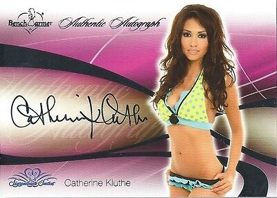 (HCW) 2008 Bench Warmer Signature Series CATHERINE KLUTHE Autograph Silver Foil