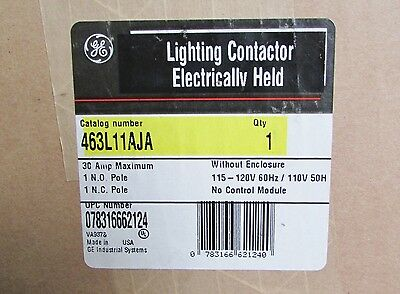 GENERAL ELECTRIC GE Electrically Held Lighting Contactor 463L11AJA 115-120V