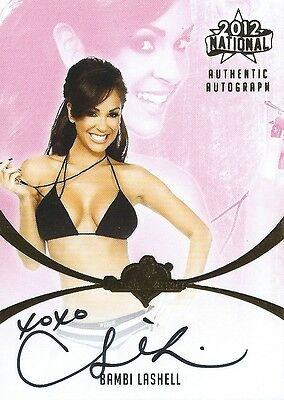 (HCW) 2012 Bench Warmer National Convention Gold Foil BAMBI LASHELL Autograph