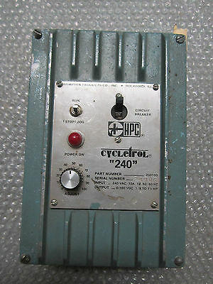 HPC Cycletrol 240 Adjustable DC Drive Part # 200100 Output 0-180VDC 1/8 to 1.5HP