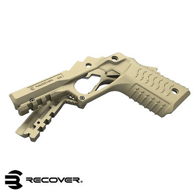 NEW - TAN Recover Tactical 1911 Polymer Grip and Rail Cover  - RE-CC3-TAN