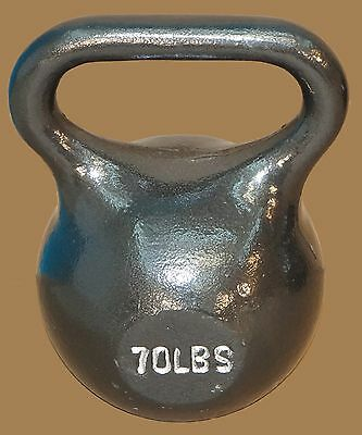 TDS Fitness 70 lb. Kettlebell with Extra Wide Handle for Two Hand Workout