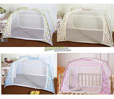 New Baby Kid Infant Nursery Bed Crib Canopy Mosquito Net Netting Play Tent House