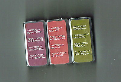 Creative Memories Set Of 3 Chalking Ink Pads Bnip