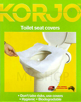 Travel & Camping use--KORJO Flushable & Disposable Toilet Paper Seat Cover