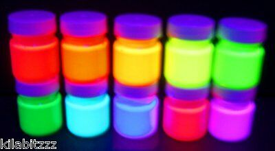 Fluorescent Dayglo Neon Party Ultraviolet Blacklight UV Reactive glowing paint