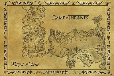 Game Of Thrones (Antique Map) Maxi Poster - 61cm x 91.5cm PP33390 - 608