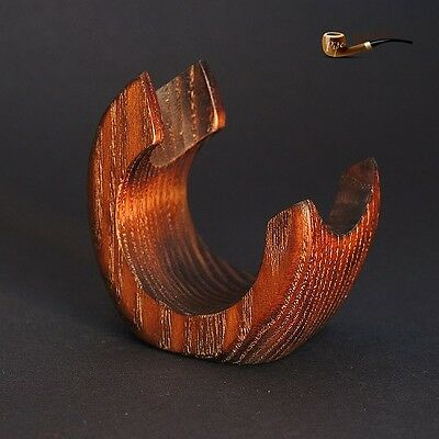 HAND CARVED  WOODEN  STAND / RACK / HOLDER for 1 Smoking Pipe