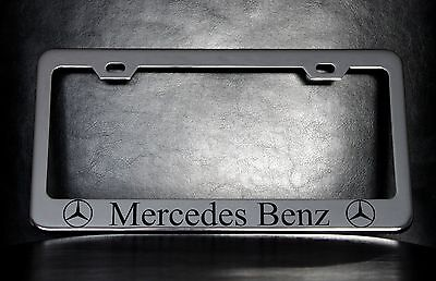 mercedes benz license plate frame custom made of chrome plated metal