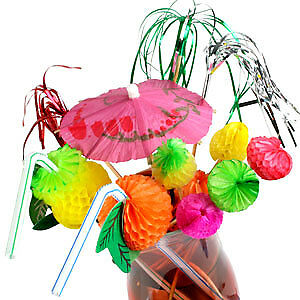 Fiesta Cocktail Decoration Party Set - 200 Piece