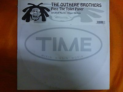 """Disco Mix 12"""" The Outhere Brothers - Pass The Toilet Paper - Dance Dj Remix Ex"""