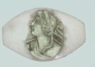 NOS Antique Unusual Victorian Carved Shell Cameo Stone 20.5 mm x 31.5 mm #ZZ148
