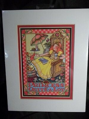 1998 Mary Engelbreit Matted Picture/card/print 8X11 The Princess Of Quite A Lot
