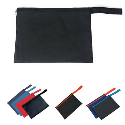Large Zippered Carry Pouch Bag Bags for Documents with Handle 12-1/2 x9-1/2""""