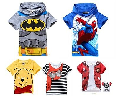 1 pcs baby boy kid boy Tops  T-Shirts summer short sleeve T shirt cool boy