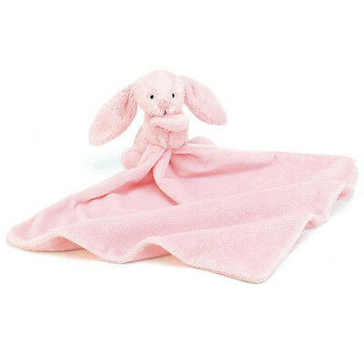 Jellycat Bashful Pink Baby Bunny Soother Comforter Blanky Blanket